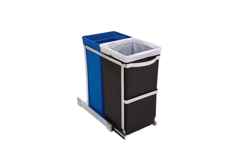 simplehuman pull out under counter recycling bins 14