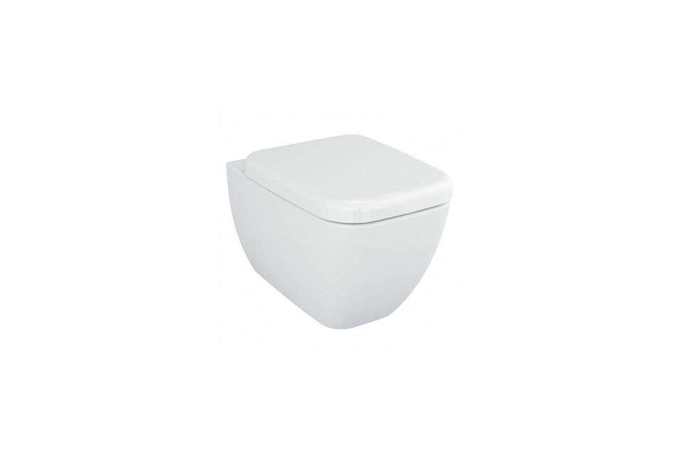 Vitra Stylish Square White Ceramic Wall-Hung Toilet