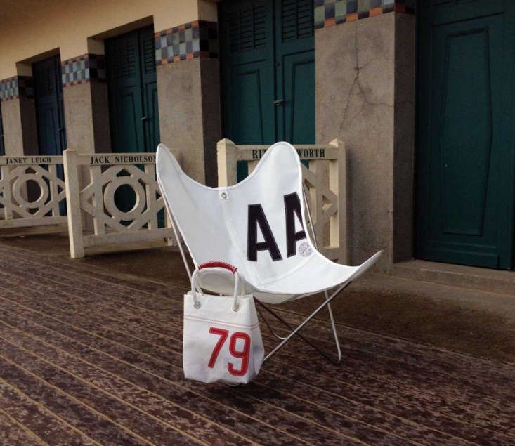thebutterfly chair made from sailcloth is from airborne in france, via midiun 11
