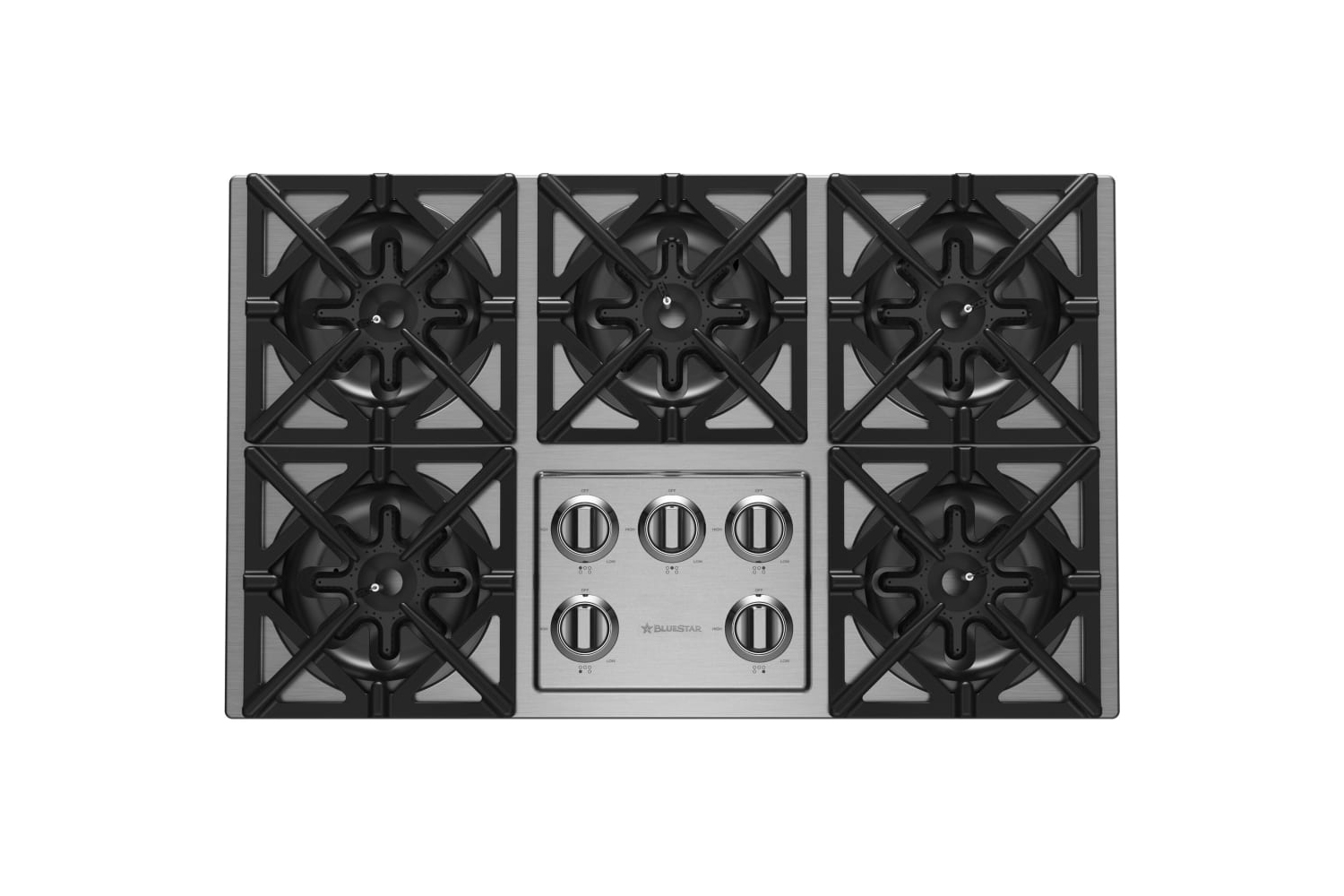 the bluestar 36 inch gas cooktop (rbct365bssv\2l) is \$\2,795 at aj madison. 12
