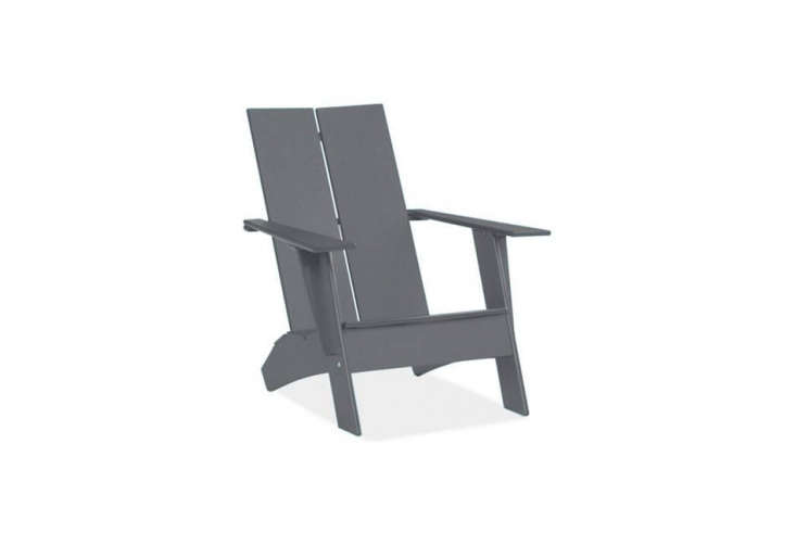 Object Lessons The Adirondack Chair Loll Design&#8\2\17;s modification of the original Adirondack Chair is made of \100 percent recycled plastic. The two slatEmmet Lounge Chair was designed for Room & Board and is available for \$399.