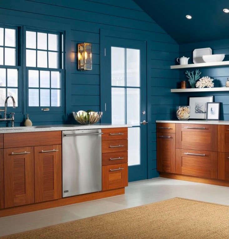 ge monogram dishwasher blue kitchen 1