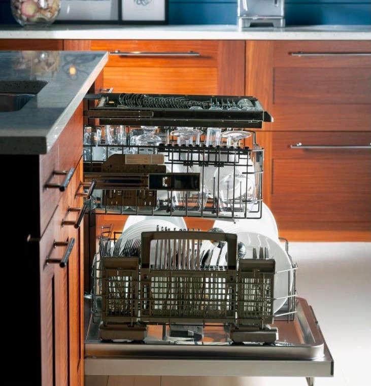 ge monogram dishwasher detail wood cabinets 2