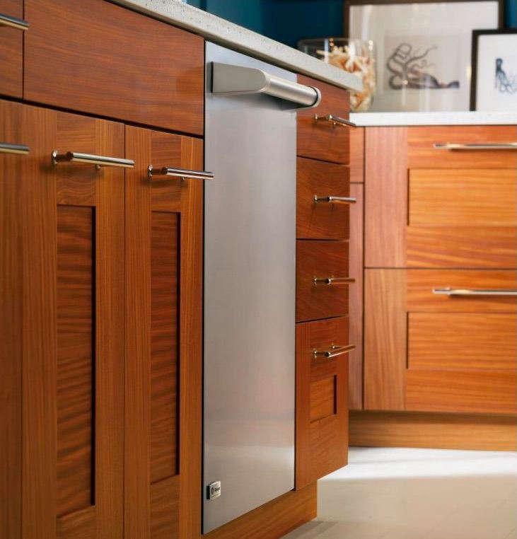 ge monogram dishwasher stainless wood cabinets