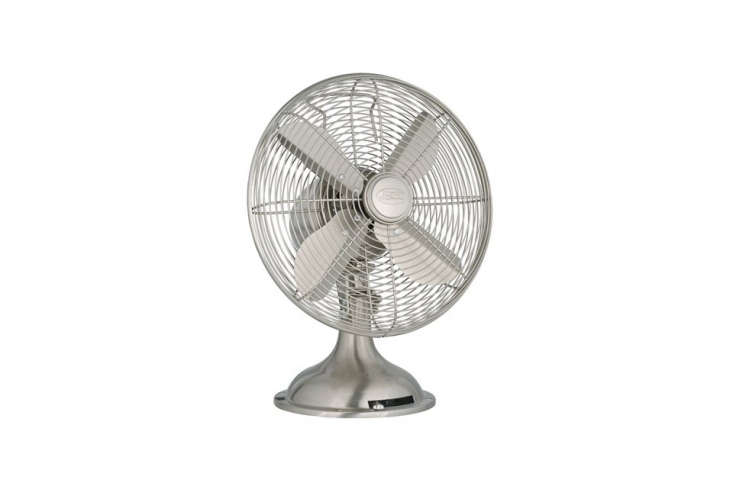 thehunter century \1\2 inch portable table fan in brushed nickel is \$64.85 o 15