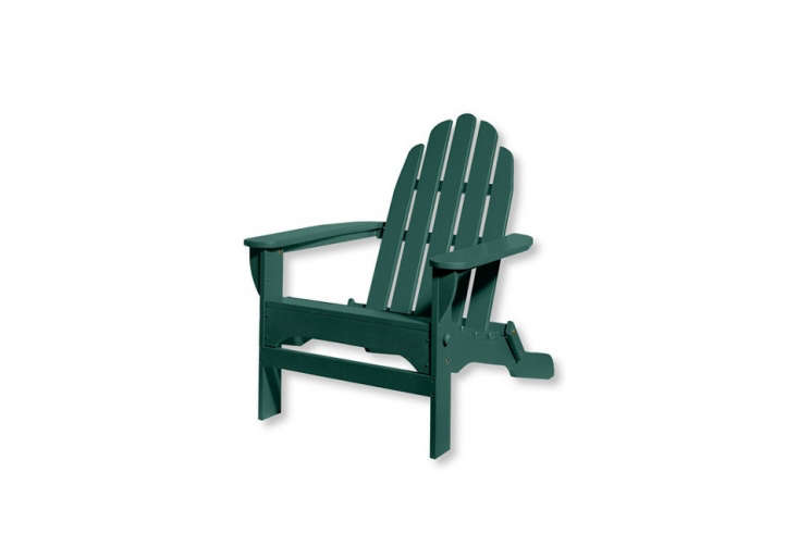Object Lessons The Adirondack Chair What we now consider the classic Adirondack Chair is constructed with many slats and a rounded top. This version, \$\209 at L.L. Bean, is foldable for off season storage.