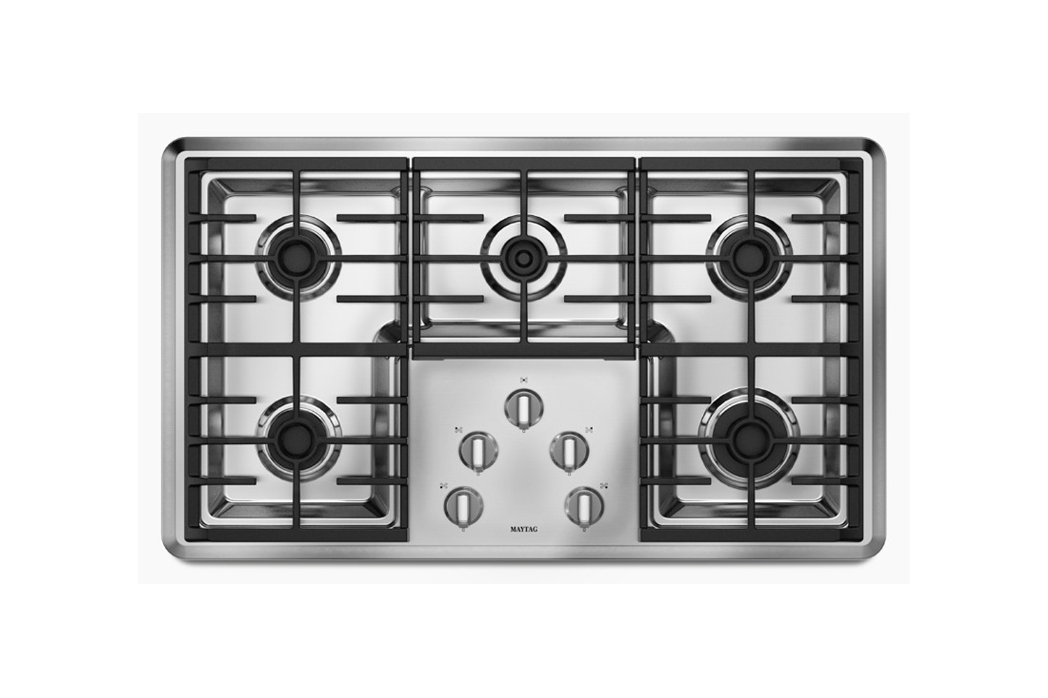 the maytag 36 inch gas cooktop (mgc7536ds) is \$\1,049 at home depot. 18