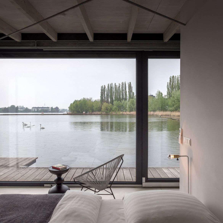 A Modern Houseboat in Berlin.