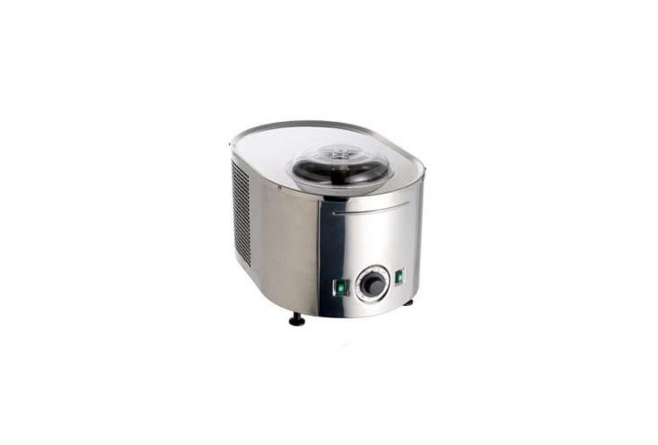 10 Favorites DesignForward Countertop Appliances from Around the World The ItalianMusso Lussino Ice Cream Makerwith all stainless steel construction is fully automatic and timer controlled, the machine shuts off automatically when the ice cream is ready. Comes with a \1.5 quart bowl and a one year warranty; \$7\14.7\1 at Amazon. For other ice cream makers, see5 Favorites: Fuss Free Ice Cream Makers.