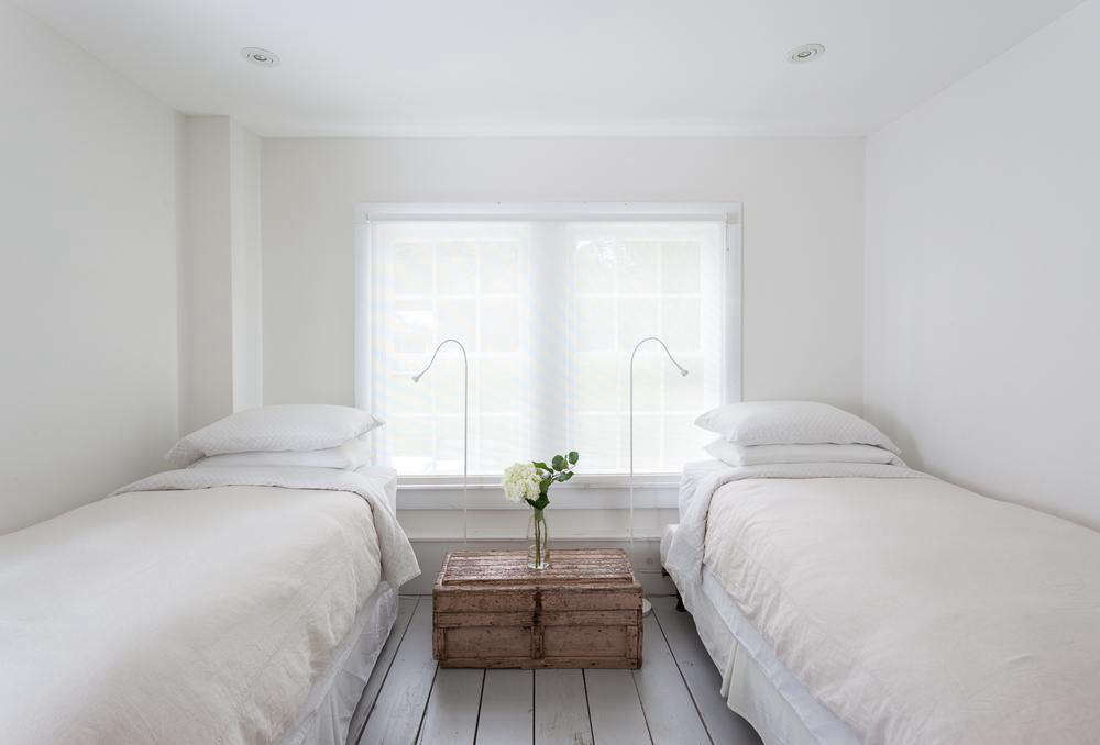 Another bedroom is well-suited for children or a pair of single travelers.