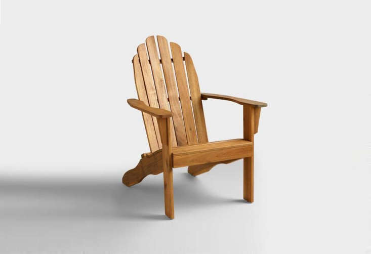 Object Lessons The Adirondack Chair TheNatural Adirondack Chair is \$79.99 at World Market.