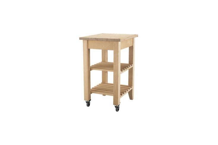 gain additional workspace with ikea&#8\2\17;s birchbekväm kitchen cart f 16