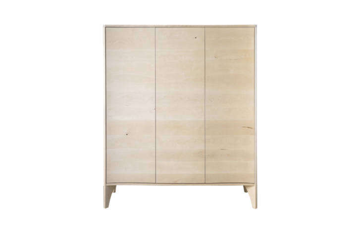 The Nested NY Noah Armoire is made of American oak and available through Dering Hall. Contact Dering Hall for price information.