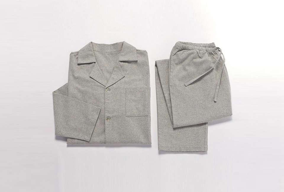 coyuchi men's heather flannel pajama set 17