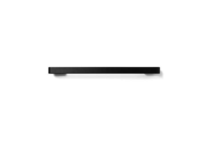 the menu towel bar is made of powder coated aluminum with a matte finish; \$\1\ 11