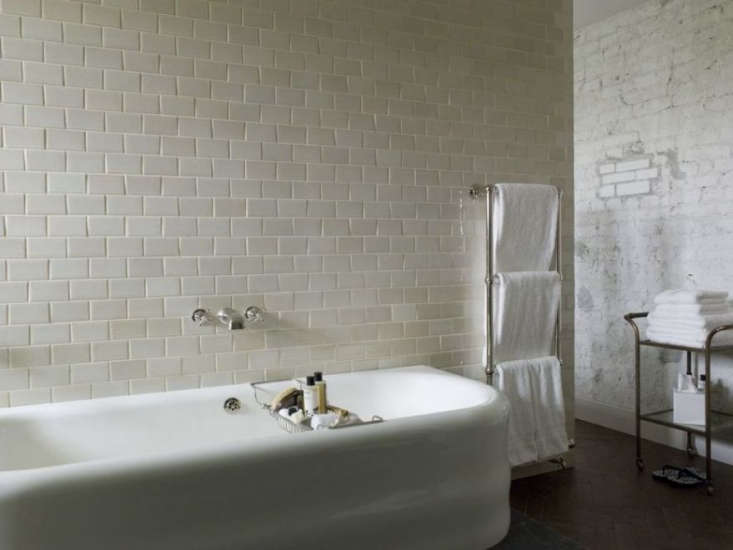 Bath Towels 101 What to Know Before You Buy Photograph fromSteal This Look: Soho House Berlin Bathroom.