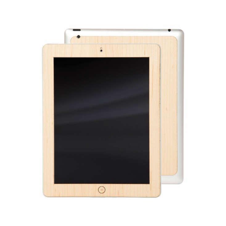 Birch Wooden iPad Skin Front Back Woodchuck Remodelista