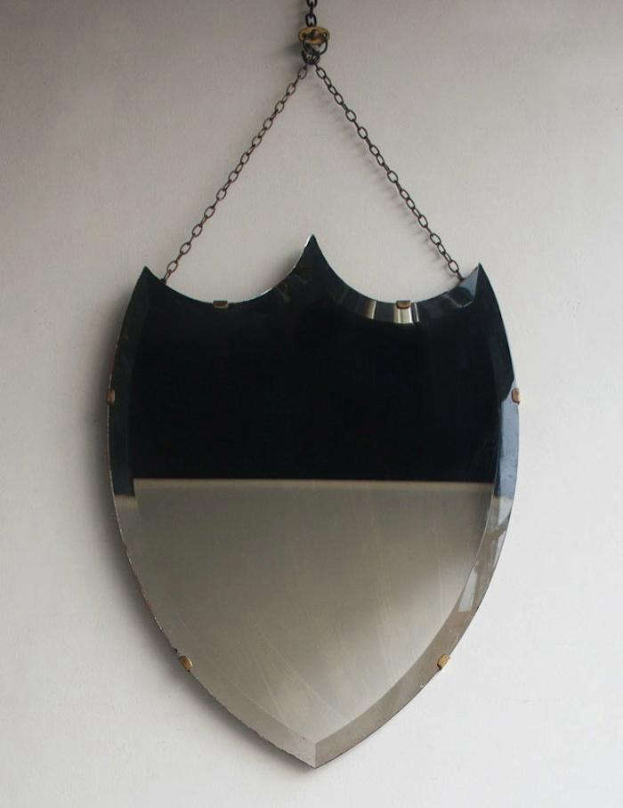 Early C 20th Shield Mirror Howe