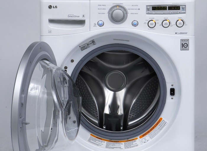 LG Front Loading washer Interior