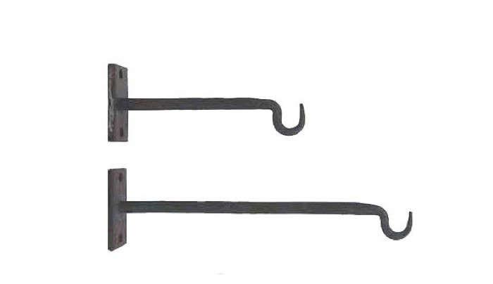Straight arm iron hook duo