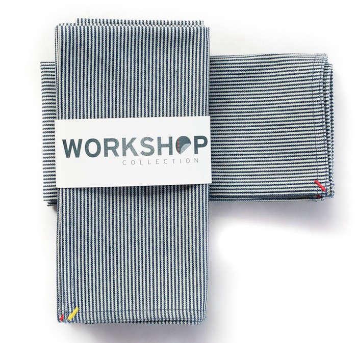 Workshop railroad stripe napkins