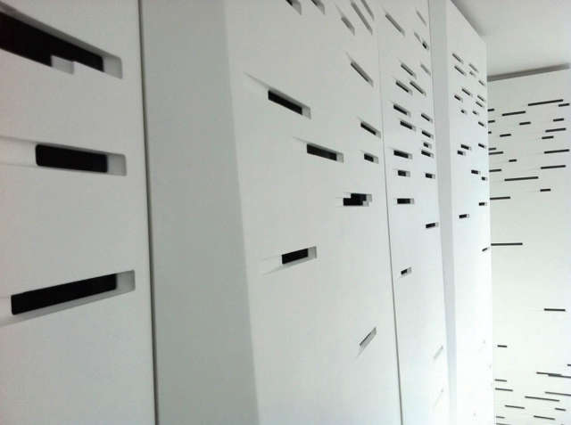 Chelsea Duplex: detail of corian panels Photo: Evan Joseph