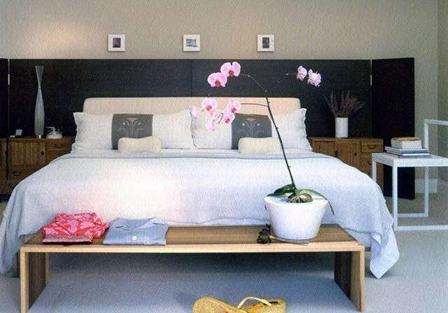 Oakmont Club Project | Master Bedroom: Poplar wood table. Photo: Michael Weschler