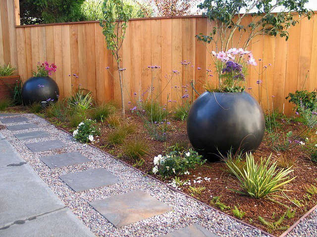 orb garden: orbs create punctuation and angles create 3 different levels in thi 15
