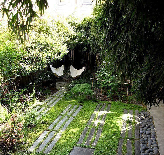 memorial garden: this design of this garden creates a protected place to sit an 12