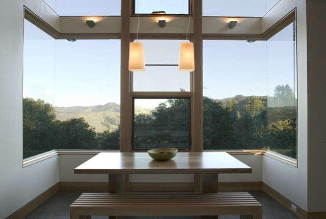 dining room, house ocho, santa lucia preserve, california photo: paul dyer 42