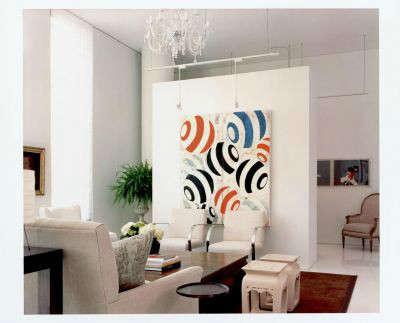 White Loft Modern Living Room &#8