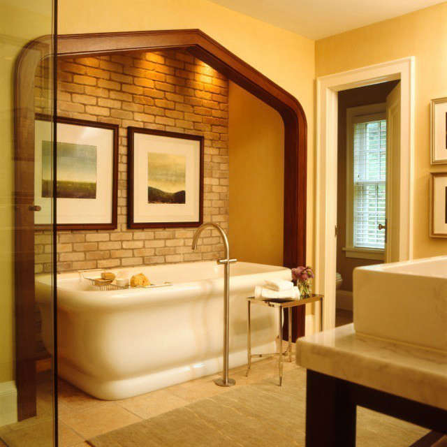Updated Tudor Modern Master Bath &#8class=