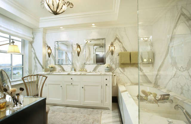 Uptown Apartment Traditional Master Bathroom &#8class=