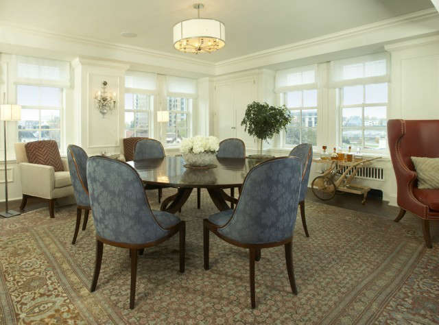 Uptown Apartment Traditional Dining Room &#8class=