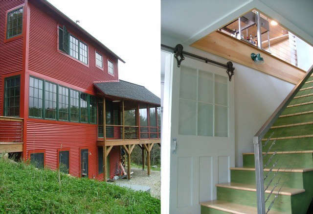 egan house, sugar hill, nh: located on a steep site and built for clients with  18