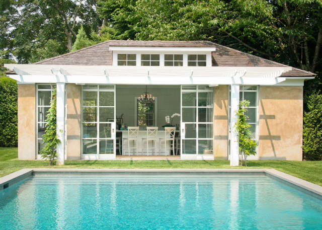 east hampton, ny &#8\2\1\1; converted garage transforms to a poolhouse with 69