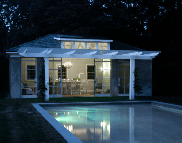 poolhouse, east hampton, ny &#8\2\1\1; a converted garage is transformed in 84