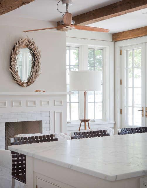 beach house, shelter island, ny &#8\2\1\1; kitchen fireplace 95