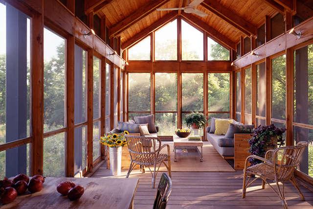 Bucks County Residence: screen porch Photo: Barry Halkin