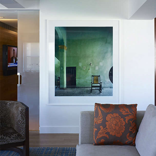 East th Street Apartment, New York, NY: living room Photo: Peter Murdock