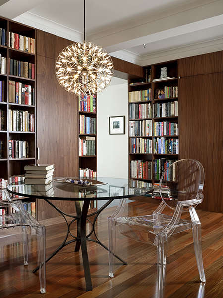 Park Avenue Apartment: library Photo: Bruce Buck