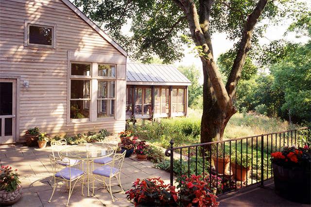 Bucks County Residence: terrace Photo: Barry Halkin