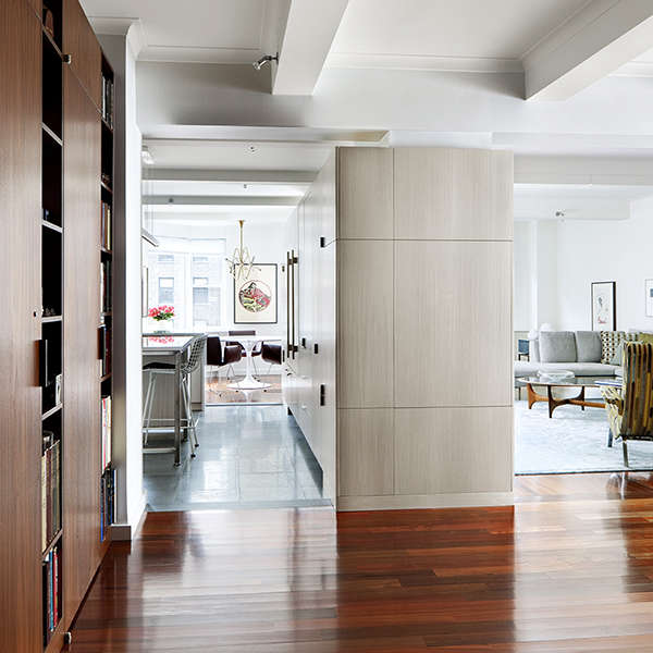 Park Avenue Apartment: view from entry hall Photo: Bruce Buck