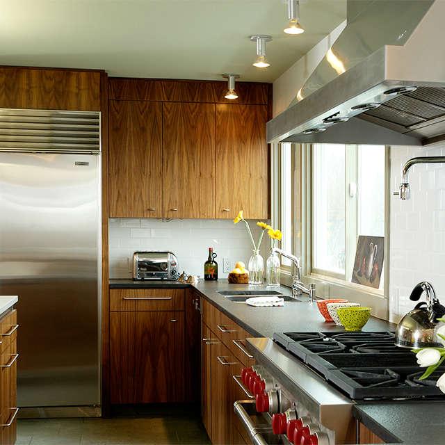 Painter Hill Residence, Roxbury, CT: kitchen Photo: Mark Samu