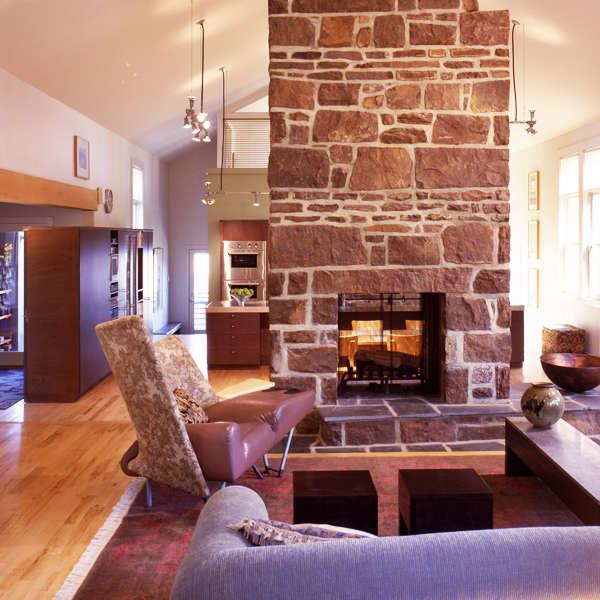 Bucks County Residence: living room Photo: Barry Halkin