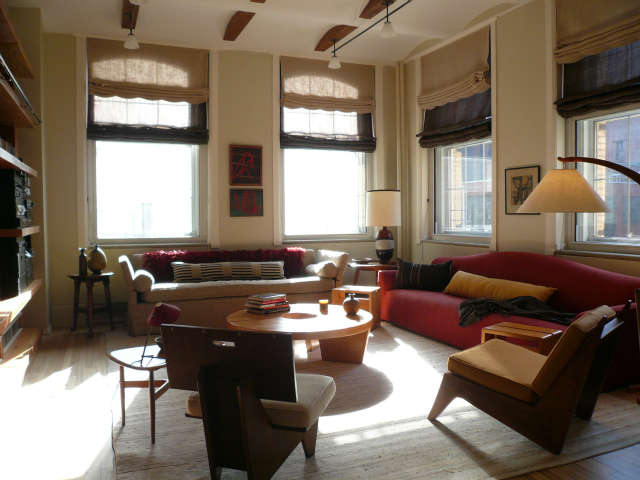 tribeca loft living room &#8\2\1\1; we mixed new pieces with old, the squar 38