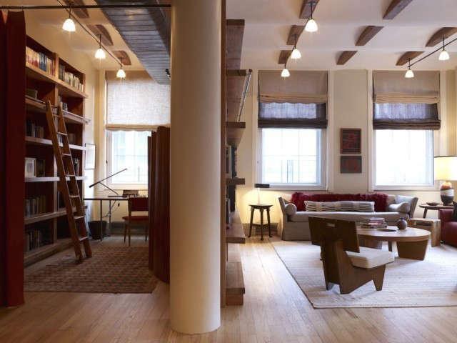 tribeca loft living room/ study photo: eric laignel 13