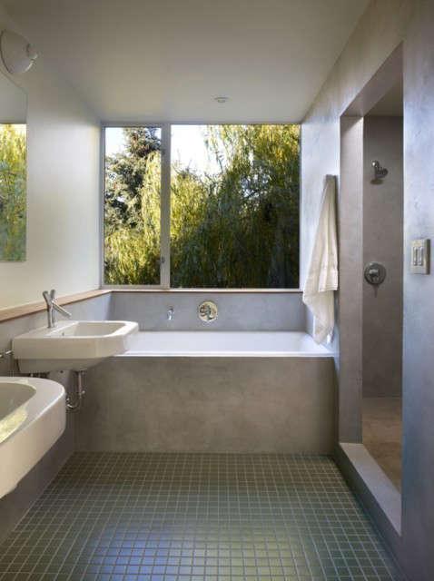 Backyard House Bath: Territorial view from the second floor bath. Photo: Ben Benschneider
