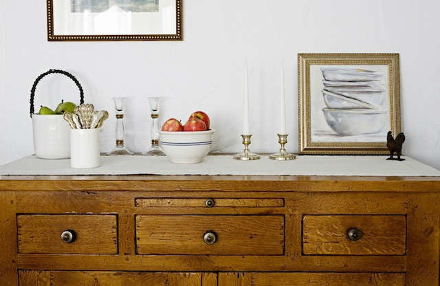 sideboard at breakfast: dining room in our very plain farmhouse, built in \19\19 9