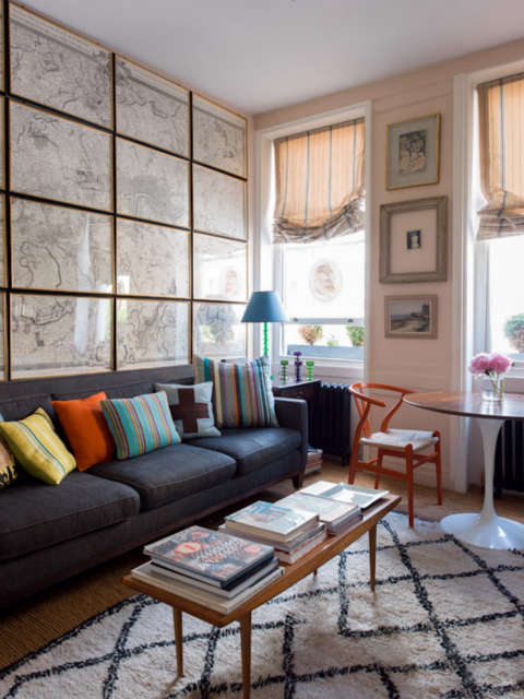 A sitting room, London: